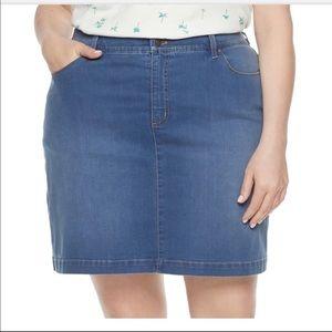 Croft & Barrow Essential Denim Skort Stretch Skirt